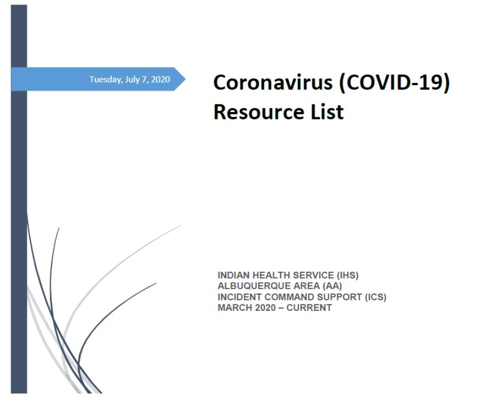 Coronavirus Resource List_AAO ICS July 7_2020 COVER pic